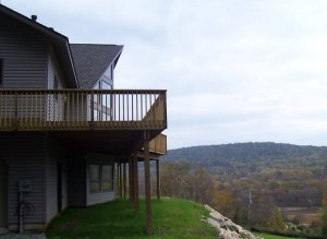 Scenic View from Contemporary Home by R.F. Mader Jr. Custom Builder