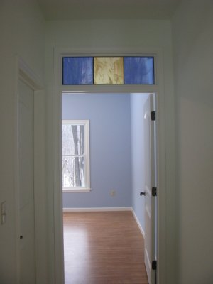 Stained Glass Transom Over Bedroom Doorway